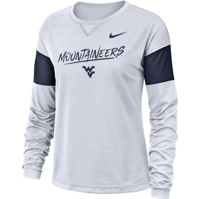 West Virginia Nike Women's Breathe Long Sleeve Top