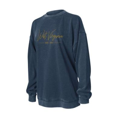 West Virginia Chicka-D Women's Campus Crew Sweatshirt