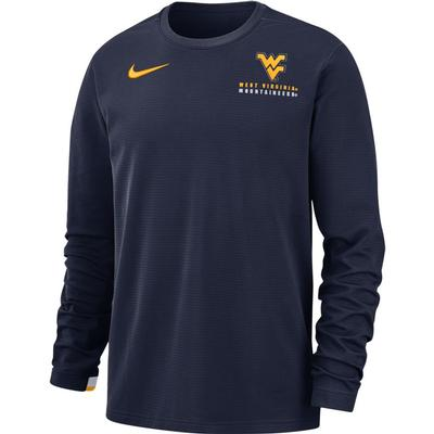 West Virginia Nike Dry Top Football Crew