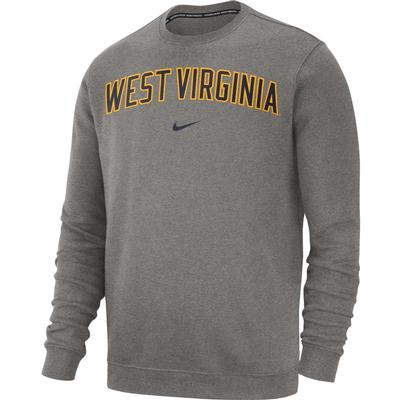 West Virginia Nike Fleece Club Crew Sweater