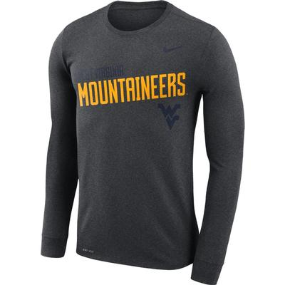 West Virginia Nike Legend Long Sleeve Sideline Tee