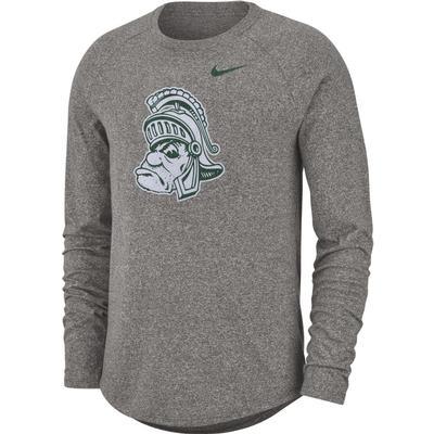 Michigan State Nike Marled Vintage Logo Long Sleeve Short