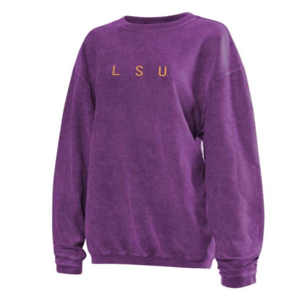 Lsu Chicka- D Women's Embroidered Corded Sweatshirt