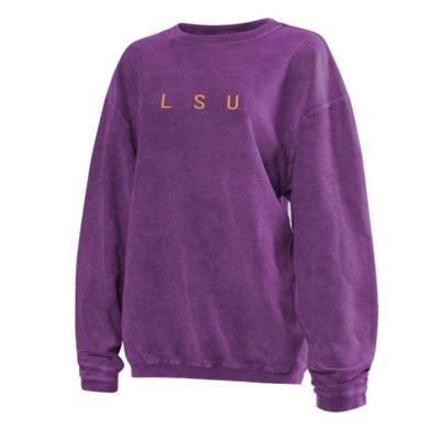 LSU Chicka-D Women's Embroidered Corded Sweatshirt