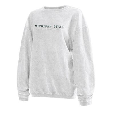 Michigan State Chicka-D Women's Embroidered Corded Sweatshirt