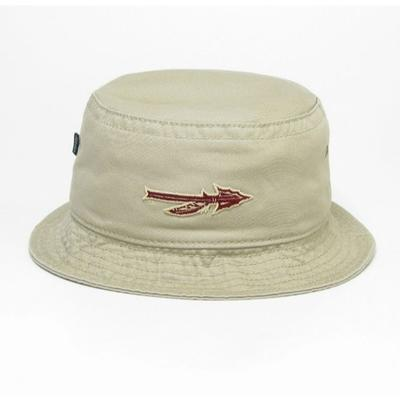 Florida State Legacy Arrow Khaki Twill Bucket Hat