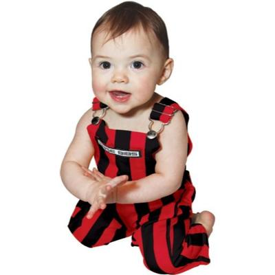 Georgia Gamebibs Infant Striped Overalls