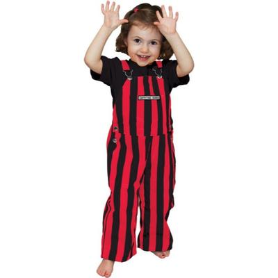 Georgia Gamebibs Toddler Striped Overalls