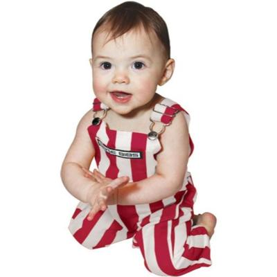 Alabama Game Bibs Infant Striped Overalls
