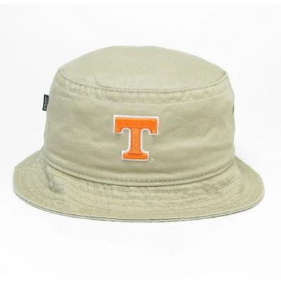 Tennessee Legacy Power T Khaki Twill Bucket Hat