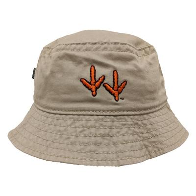 Virginia Tech Legacy Hokie Tracks Khaki Twill Bucket Hat