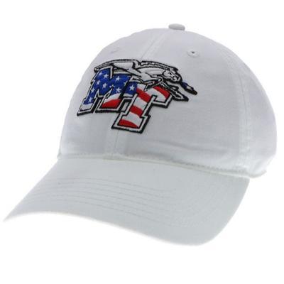 MTSU Legacy MT Americana Twill Adjustable Hat WHITE