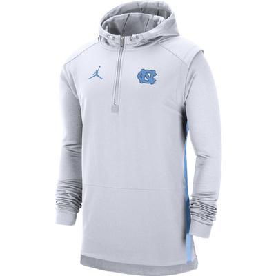 UNC Jordan Brand Pregame Coaches 1/2 Zip Pullover