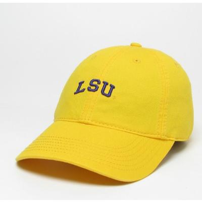 LSU Legacy Women's Mini Arch Twill Adjustable Hat GOLD