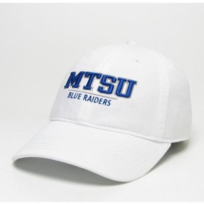 MTSU Legacy Women's Split Line Mini Twill Hat WHITE