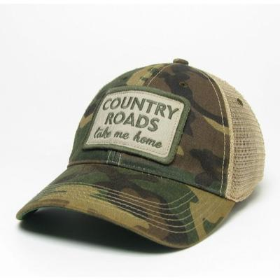 West Virginia Legacy Country Roads Adjustable Trucker Hat
