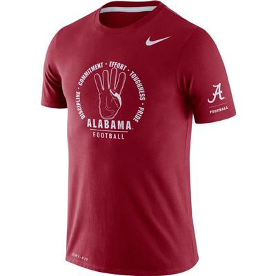 Alabama Nike Dri-Blend Rivalry Crew Tee