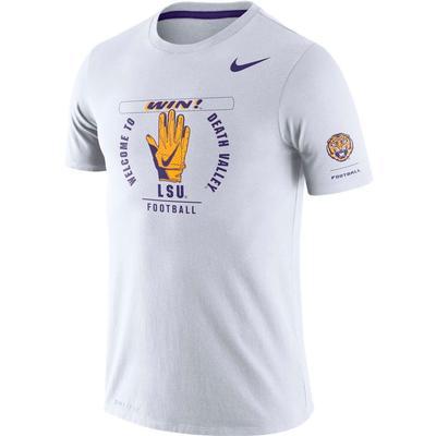 LSU Nike Dri-Blend Rivalry Crew Tee