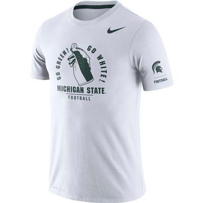Michigan State Nike Dri-Blend Rivalry Crew Tee