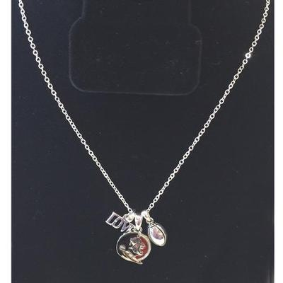 Florida State Love Football Charm Necklace