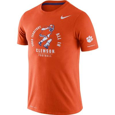 Clemson Nike Dri-Blend Rivalry Crew Tee