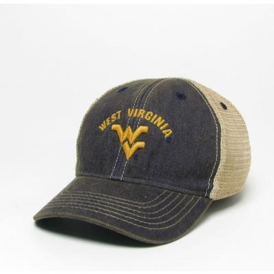 West Virginia Legacy Toddler Arch w Logo Adjustable Trucker Hat