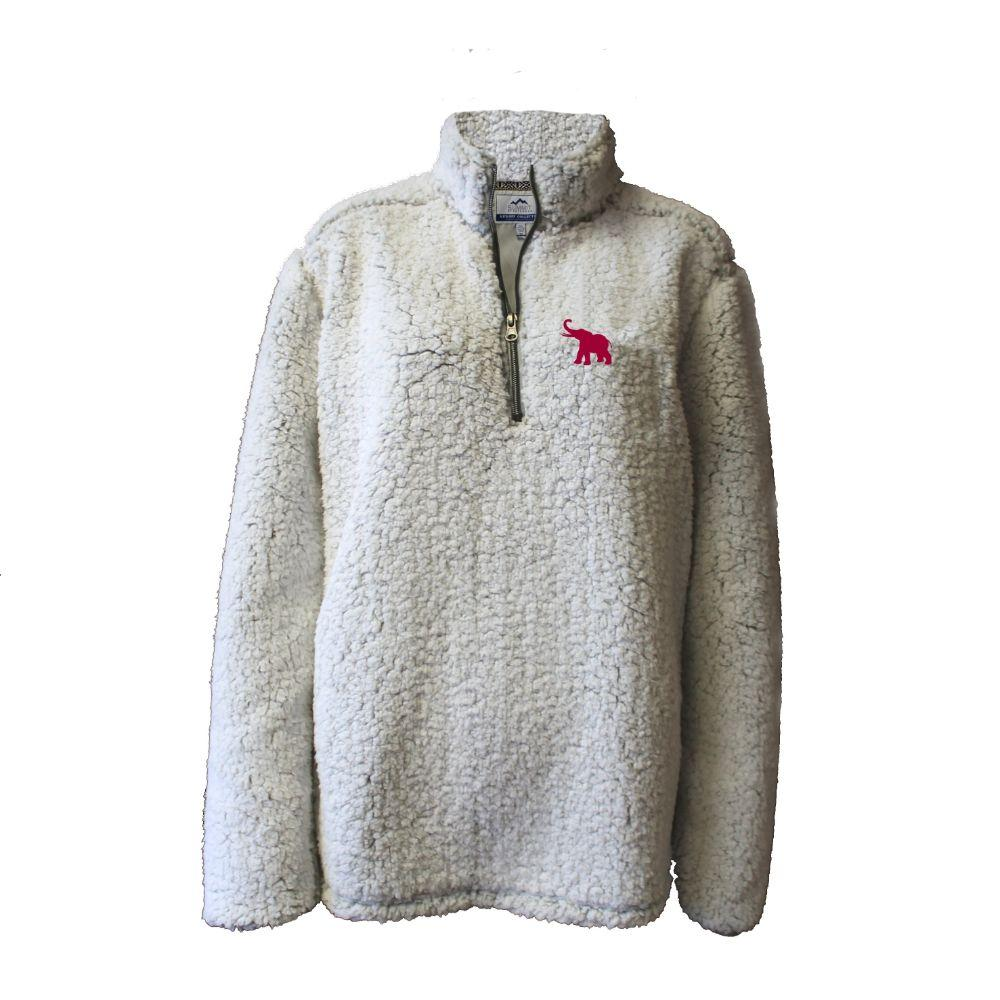 Alabama Summit Women's 1/4 Zip Solid Sherpa