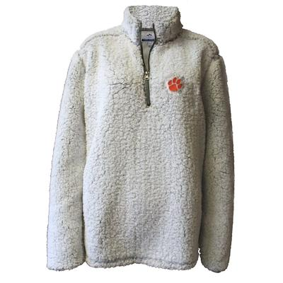 Clemson Summit Women's 1/4 Zip Solid Sherpa