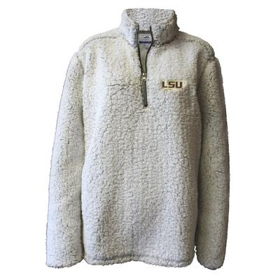 LSU Summit Women's 1/4 Zip Solid Sherpa