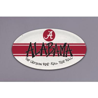 Alabama Magnolia Lane Melamine Oval Tray