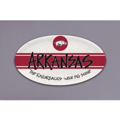 Arkansas Magnolia Lane Melamine Oval Tray