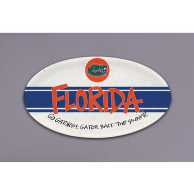 Florida Magnolia Lane Melamine Oval Tray