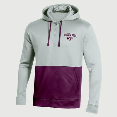 Virginia Tech Champion Field Day Poly 1/4 Zip Hoody