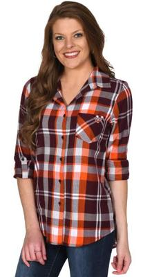 Virginia Tech University Girl Boyfriend Plaid Flannel