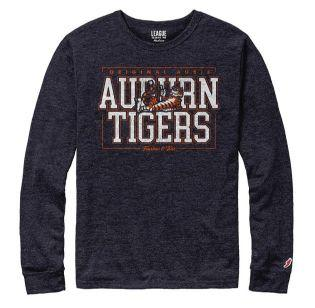 Auburn League Original Aubie Vault LS Tri-Blend Tee Shirt