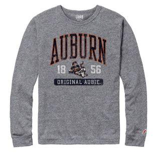 Auburn League Original Aubie Arch Vault Tri-Blend LS Tee Shirt