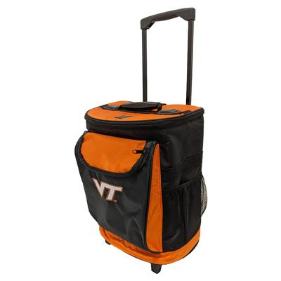 Virginia Tech Logo Brands Rolling Cooler