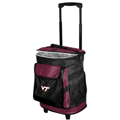 Virginia Tech Logo Brands Rolling Cooler