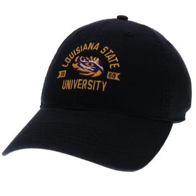 LSU Legacy Arch with Eye Logo Twill Adjustable Hat BLACK