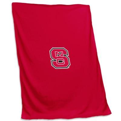NC State Logo Brands Sweatshirt Blanket
