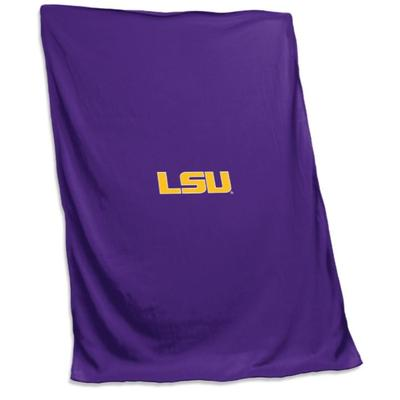 LSU Logo Brands Sweatshirt Blanket