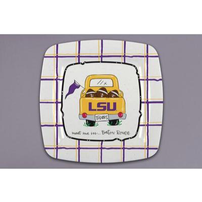 LSU Magnolia Lane Melamine Truck Plate