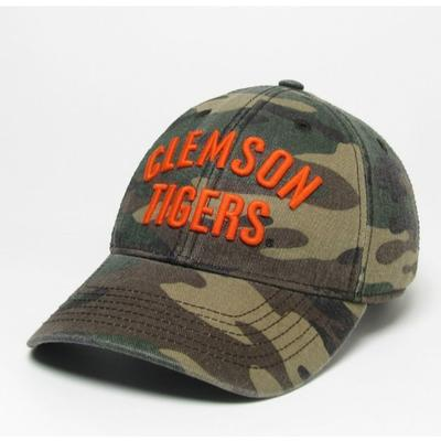 Clemson Legacy Tigers Camo Adjustable Twill Hat