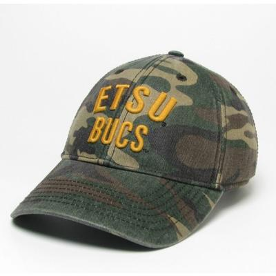 ETSU Legacy Bucs Camo Adjustable Twill Hat