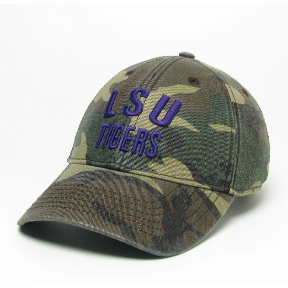 Lsu Legacy Tigers Camo Adjustable Twill Hat