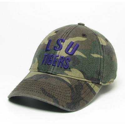 LSU Legacy Tigers Camo Adjustable Twill Hat