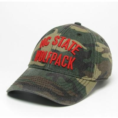 NC State Legacy Wolfpack Camo Adjustable Twill Hat