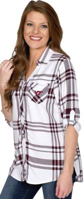 Virginia Tech University Girl Satin Weave Plaid