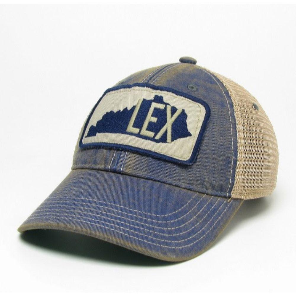 Kentucky Legacy Lex State Patch Adjustable Trucker Hat