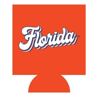 Florida Retro Script Koozie